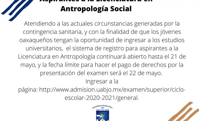 Aviso Antropología