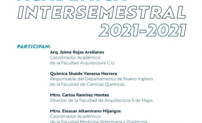 Oferta académica intersemestral 2021-2021